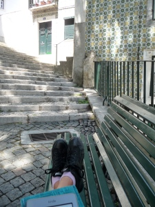 Reading Pessoa this past summer in Lisbon's Alfama and feeling blissfully lost