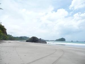Manuel Antonio Beach, blissfully uninhabited