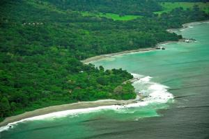 An aerial view of Lapa Rios, one of the Cayuga Collection's properties